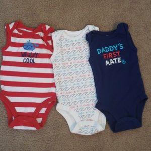 Baby boy 9 month onesies set of 3